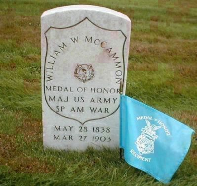 William W. McCammon's grave marker image. Click for full size.