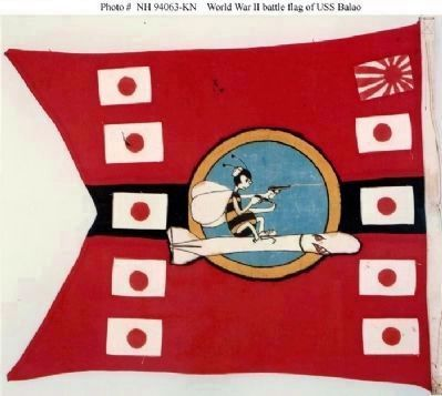USS Balao (SS-285) Battle Flag Photo, Click for full size