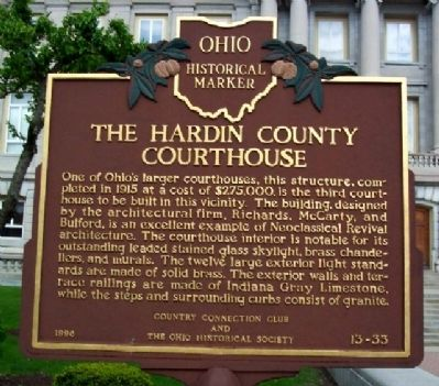 The Hardin County Courthouse Marker image. Click for full size.