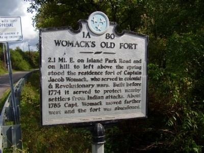Womack's Old Fort Marker image. Click for full size.
