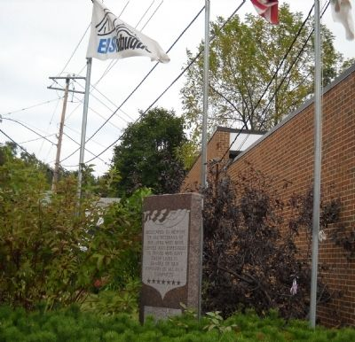 East Dubuque Veterans' Memorial Marker image. Click for full size.