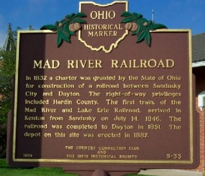 Mad River Railroad Marker image. Click for full size.