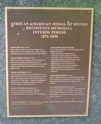 African American Medal of Honor Recipients Memorial, Marker Panel 4: image. Click for full size.