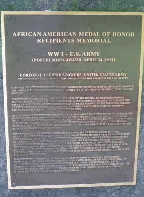 African American Medal of Honor Recipients Memorial, Marker Panel 8: image. Click for full size.