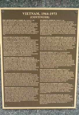 African American Medal of Honor Recipients Memorial, Marker Panel 13: image. Click for full size.
