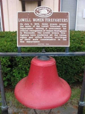 Lowell Women Firefighters Marker image. Click for full size.