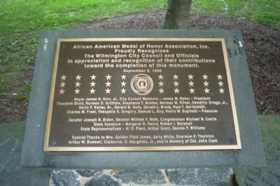 African American Medal of Honor Recipients Memorial image. Click for full size.