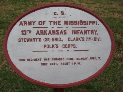 13th Arkansas Infantry Tablet Photo, Click for full size