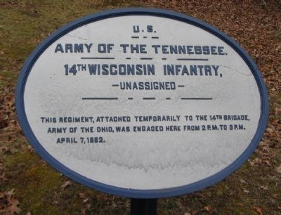 14th Wisconsin Infantry Tablet image. Click for full size.