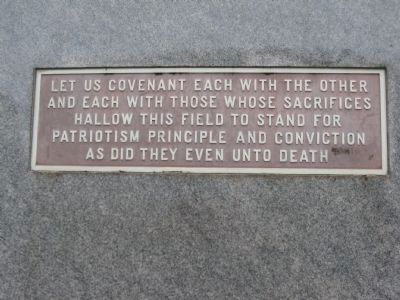 Plaque on Back of Monument - East Side image. Click for full size.