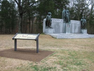 Marker and the Confederate Memorial image. Click for full size.
