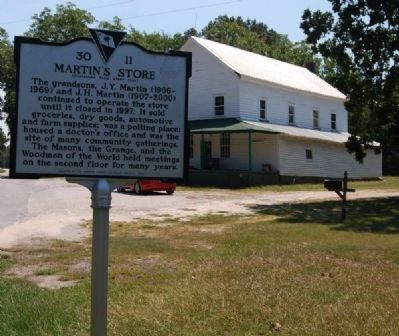 Martin's Store (Rear) and Marker Photo, Click for full size