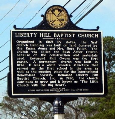 Liberty Hill Baptist Church Marker image. Click for full size.