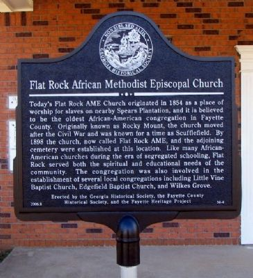 Flat Rock African Methodist Episcopal Church Marker image. Click for full size.