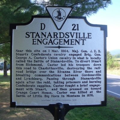 Stanardsville Engagement Marker image. Click for full size.