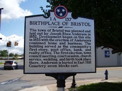 Birthplace of Bristol Marker image. Click for full size.