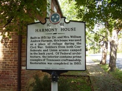 Harmony House Marker Photo, Click for full size