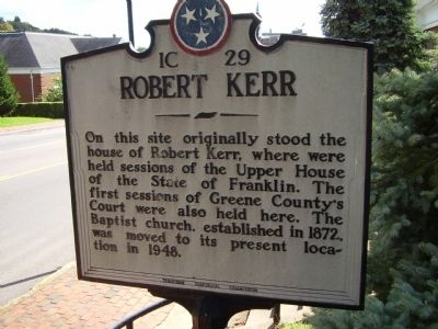 Robert Kerr Marker Photo, Click for full size