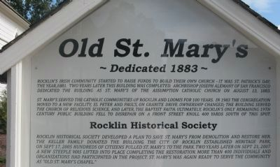 Old St. Mary�s Marker image. Click for full size.