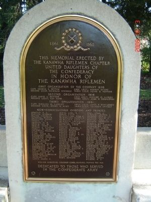 Kanawha Riflemen Marker Photo, Click for full size