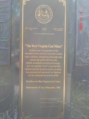 West Virginia Coal Miner Memorial on Capitol Grounds image. Click for full size.