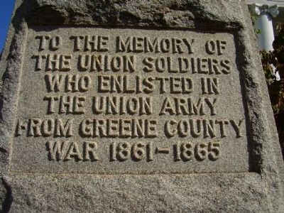 Green County Union Memorial Photo, Click for full size