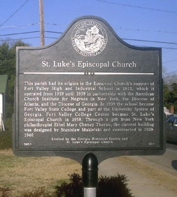St Luke�s Episcopal Church Marker image. Click for full size.