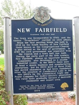 New Fairfield Marker image. Click for full size.
