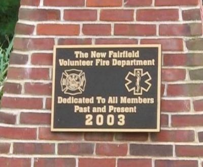 New Fairfield Fire Department Memorial Marker image. Click for full size.