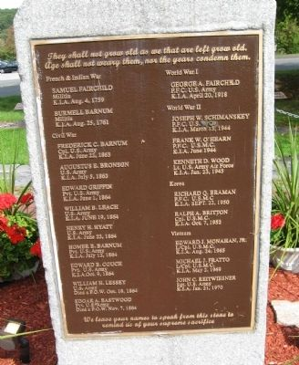 New Fairfield Veterans Memorial Photo, Click for full size