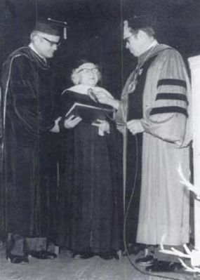 Dr. Wil Lou Gray -<br>Receiving an Honary Doctorate<br>from Columbia College image. Click for full size.