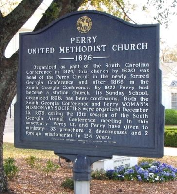 Perry United Methodist Church Marker image. Click for full size.