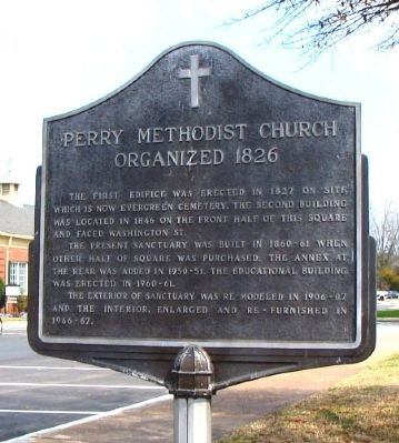 Perry Methodist Church Marker image. Click for full size.
