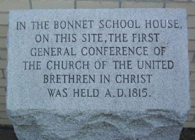 First General Conference of the United Brethren Marker image. Click for full size.