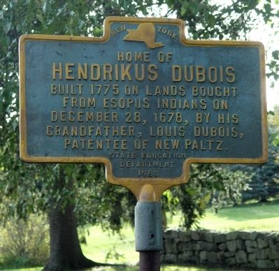 Hendrikus DuBois House Marker Photo, Click for full size