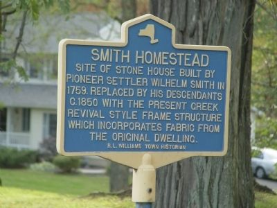 Wilhem Smith Homestead Marker image. Click for full size.