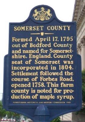 Somerset County Marker image. Click for full size.