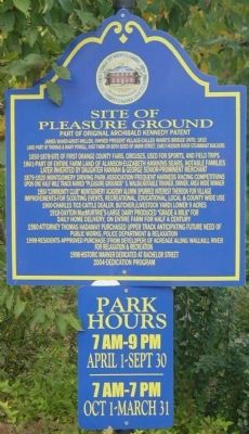 Site of Pleasure Ground Marker image. Click for full size.