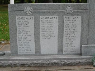 Brattleboro Veterans Monument [ Left panel ] image. Click for full size.