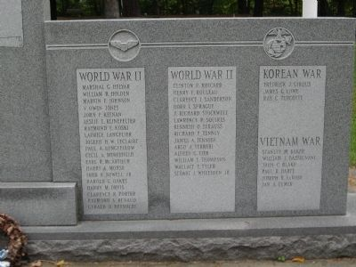 Brattleboro Veterans Monument [ Right Panel ] image. Click for full size.