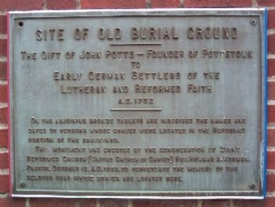 Site of Old Burial Ground Marker image. Click for full size.