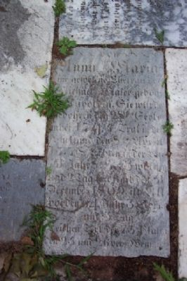 Headstone on Ground at Old Burial Ground Memorial image. Click for full size.