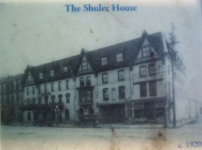 The Shuler House, c.1920, Photo on Marker image. Click for full size.