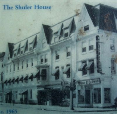 The Shuler House, c.1965, Photo on Marker image. Click for full size.