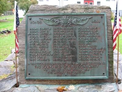 Bridgewater World War I Monument image. Click for full size.