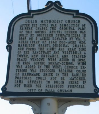 Dulin Methodist Church Marker image. Click for full size.