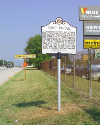Camp Parole Marker Photo, Click for full size