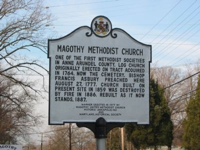 Magothy Methodist Church Marker image. Click for full size.