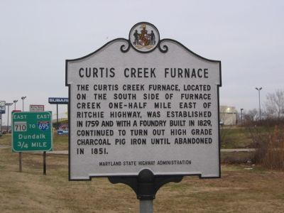 Curtis Creek Furnace Marker image. Click for full size.