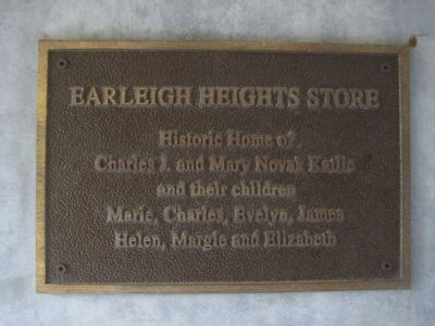Earleigh Heights Store Marker image. Click for full size.